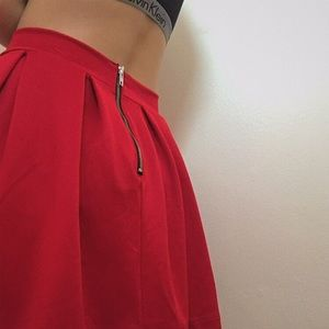 Dresses & Skirts - red pleated skirt